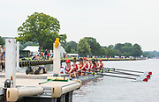 Henley on Thames, England, United Kingdom,  Sunday,  23.06.19,   St Paul's School, Concord, New Hampshire, USA, at the Start, Semi Final of J 8+, Henley Women's Regatta, Henley Reach,  Karon PHILLIPS/Intersport Images,<br /> , <br /> 12:02:40