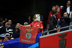 18 October 2017 -  UEFA Champions League - (Group A) - SL Benfica v Manchester United - A Benfica fan wearing a rubber mask in the shape of an Eagle's head - Photo: Marc Atkins/Offside