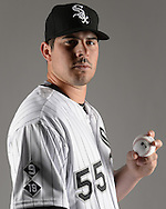 GLENDALE, ARIZONA - FEBRUARY 27:  Carlos Rodon #55 of the Chicago White Sox poses for a portrait during photo day on February 27, 2015 at Camelback Ranch in Glendale Arizona.  (Photo by Ron Vesely)    Subject:  Carlos Rodon