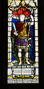 Stained glass window depicting Saint Gereon of Cologne, Parish Church of St Aldhelm, Bishopstrow, Wiltshire, England