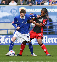 Photo: Mark Stephenson.<br />Leicester City v Queens Park Rangers. Coca Cola Championship. 17/03/2007. Leicester's Mark Yates holds off QPR's Michael Mancienne