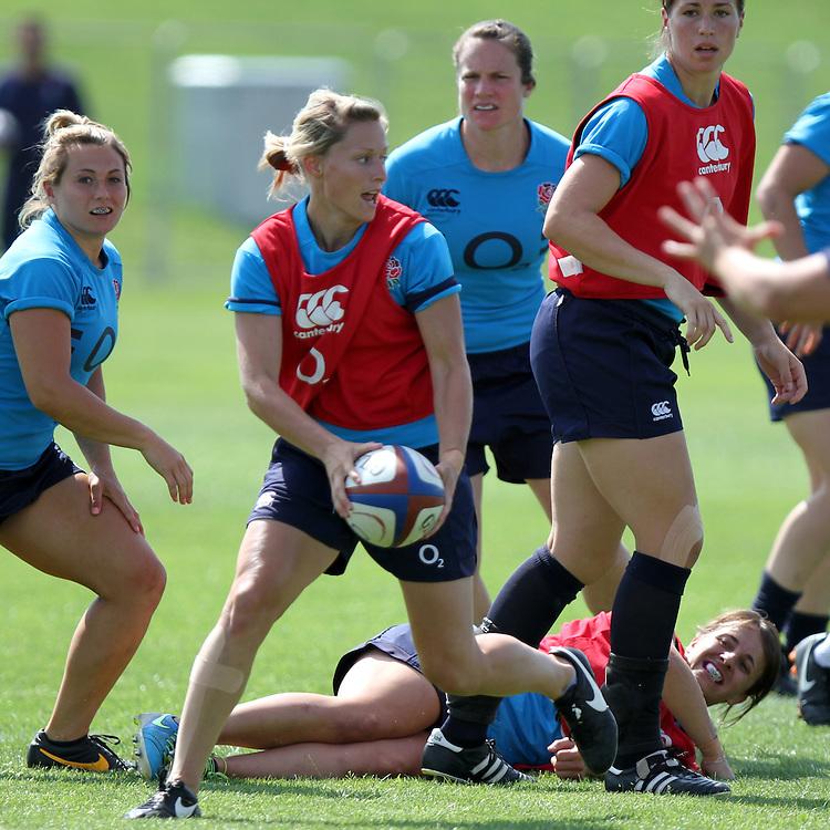 Natasha Hunt during training. England WRWC Training Camp at Surrey Sports Park, Guildford, England on 22 July 2104.