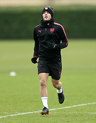 Arsenal's Jack Wilshere during the training session at London Colney, Hertfordshire. PRESS ASSOCIATION Photo. Picture date: Wednesday February 14, 2018. See PA story SOCCER Arsenal. Photo credit should read: Steven Paston/PA Wire