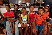 Nova Lima_MG, Brasil..Projeto De Volta pra Casa, em Nova Lima, Minas Gerais. O projeto visa tirar criancas de abrigos e leva-las de volta aos seus lares. Na foto, criancas que voltaram para a casa gracas ao project...De volta pra casa project, in Nova Lima, Minas Gerais. The project aims to get children from shelters and take them back to their homes. In the photo, children who returned home thanks to the project...Foto: LEO DRUMOND / NITRO