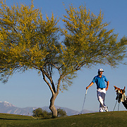 Nick Seymour (in Blue shirt and white pants) competes on the Golden State Golf Tour at the Srixon Series Westin Challenge in Rancho Mirage, CA.