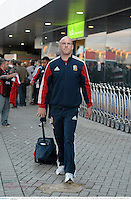 3 June 2013; Paul O'Connell, British & Irish Lions, at Perth International Airport upon the squad's arrival in Australia for the British & Irish Lions Tour 2013. Perth International Airport, Perth, Australia. Picture credit: Stephen McCarthy / SPORTSFILE