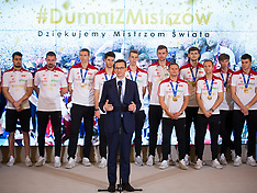 Poland volleyball team met with Prime Minister - 01 October 2018