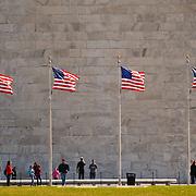 Tourists at the Washington Monument