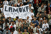 Roland Garros. Paris, France. June 4th 2008..Gael MONFILS's family and friends when he won his 1/4 Finals against David FERRER...
