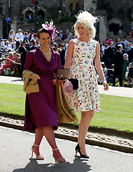 Joss Stone (right) arrives at St George's Chapel at Windsor Castle for the wedding of Meghan Markle and Prince Harry.