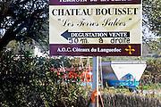 Chateau Bouisset Les Terres Salees. La Clape. Languedoc. France. Europe.