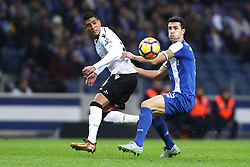 January 7, 2018 - Porto, Porto, Portugal - Porto's Spanish defender Ivan Marcano (R) in action with Hurtado of Vitoria SC (L) during the Premier League 2017/18 match between FC Porto and Vitoria SC, at Dragao Stadium in Porto on January 7, 2018. (Credit Image: © Dpi/NurPhoto via ZUMA Press)