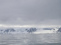 Glaciers on the prince Karls headland seen from the sea