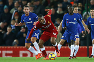 Daniel Sturridge of Liverpool (c) in action. Premier League match, Liverpool v Chelsea at the Anfield stadium in Liverpool, Merseyside on Saturday 25th November 2017.<br /> pic by Chris Stading, Andrew Orchard sports photography.
