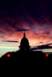 Stock photo of sunset at the Capitol building in Austin, Texas