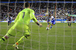 16 May 2017 - Sky Bet Championship - Play-off 2nd Leg - Reading v Fulham - Yann Kermorgant of Reading scores a goal from the penalty spot - Photo: Marc Atkins / Offside.