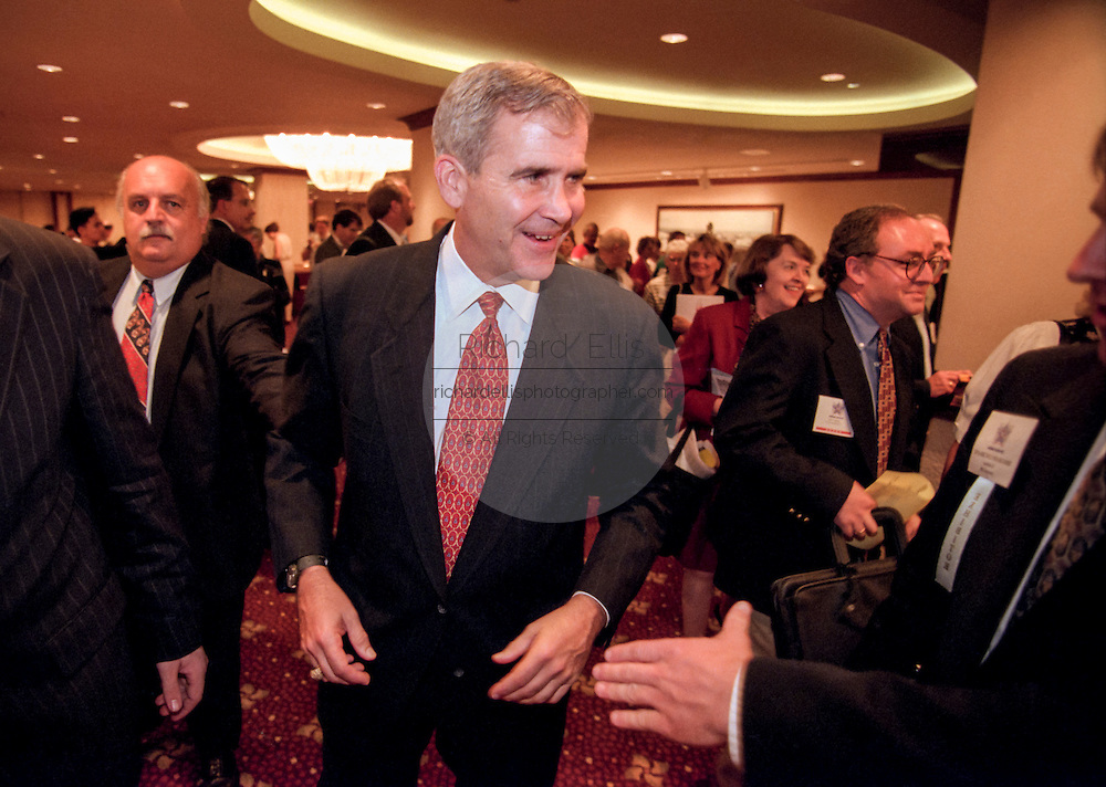Retired Col. Oliver North at the Road to Victory event at the Christian Coalition Conference September 19, 1998 in Washington, DC.