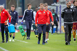 Dundee's manager Neil McCann at the end. Dundee 1 v 3 Motherwell, SPFL Ladbrokes Premiership game played 1/9/2018 at Dundee's Kilmac stadium Dens Park