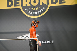 Lily Williams (USA) at the 2020 Ronde van Vlaanderen - Elite Women, a 135.6 km road race starting and finishing in Oudenaarde, Belgium on October 18, 2020. Photo by Sean Robinson/velofocus.com