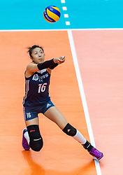 20-10-2018 JPN: Final World Championship Volleyball Women day 18, Yokohama<br /> China - Netherlands 3-0 / Xia Ding #16 of China