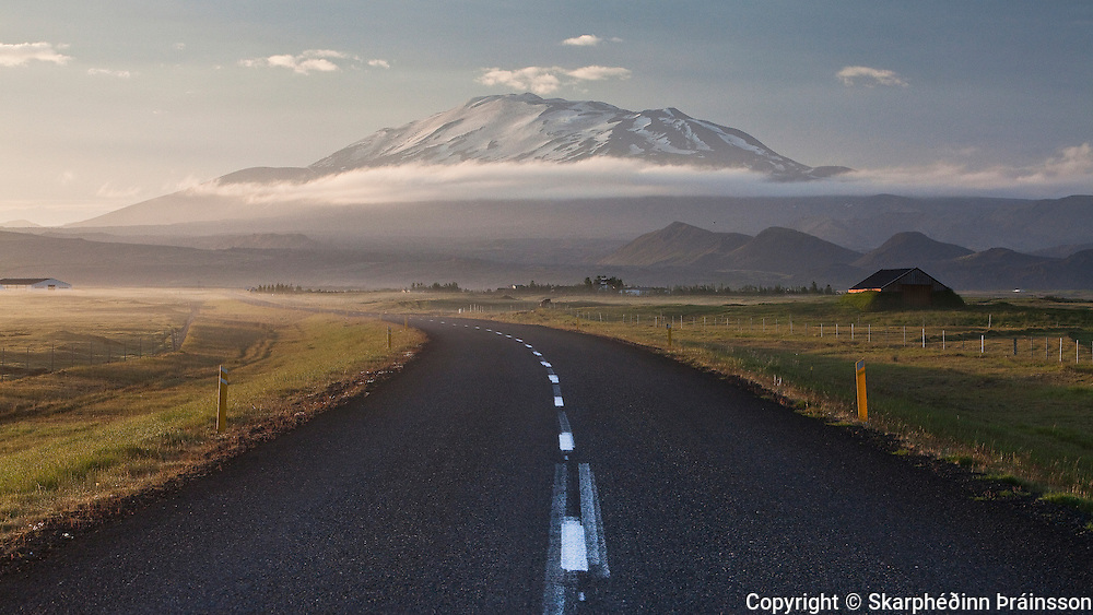 Mountain Hekla, stratovolcano in south Iceland