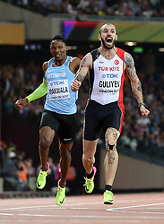 Turkey's Ramil Guliyev (right) wins the men's 200m Final during day seven of the 2017 IAAF World Championships at the London Stadium.