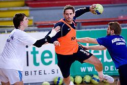 Sebastjan Skube, Bostjan Kavas and Uros Rapotec at practice of Slovenian Handball Men National Team, on June 4, 2009, in Arena Kodeljevo, Ljubljana, Slovenia. (Photo by Vid Ponikvar / Sportida)