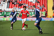 Charlton Athletic defender Yun Suk-Young (2) dribbling and on the attack during the Sky Bet Championship match between Charlton Athletic and Birmingham City at The Valley, London, England on 2 April 2016. Photo by Matthew Redman.