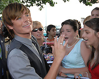 Zac Efron attends the Baltimore Premiiere of the new movie Hairspray
