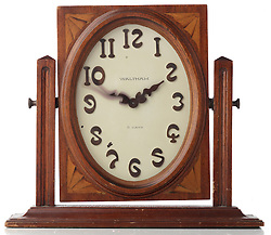 wood waltham clock