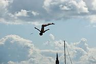 20.06.15. Copenhagen, Denmark.Gary Hunt jump from the 28 metre platform atop the Copenhagen Opera House.Photo:© Ricardo Ramirez