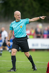Ref Mat Northcroft. Brechin City 0 v 4 Inverness Caledonian Thistle, Scottish Championship game played 26/8/2017 at Brechin City's home ground Glebe Park.