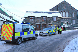 © London News Pictures. 2010/12/20 .TODAY PICTURE. The property where the bodies were found. The bodies of a woman and two young children have been found dead at a house. Officers in North Wales were alerted by concerned relatives and forced entry to the property in Trawsfynydd, Gwynedd, at around 8pm on Sunday. Picture credit should read  Erfyl Lloyd Davies/London News Pictures