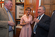 JOHN MCENTEE; PETRONELLA WYATT; PETER MCKAY, Elliott and Thompson host a book launch of How the Queen can Make you Happy by Mary Killen.- Book launch. The O' Shea Gallery. St. James's St. London. 20 June 2012.