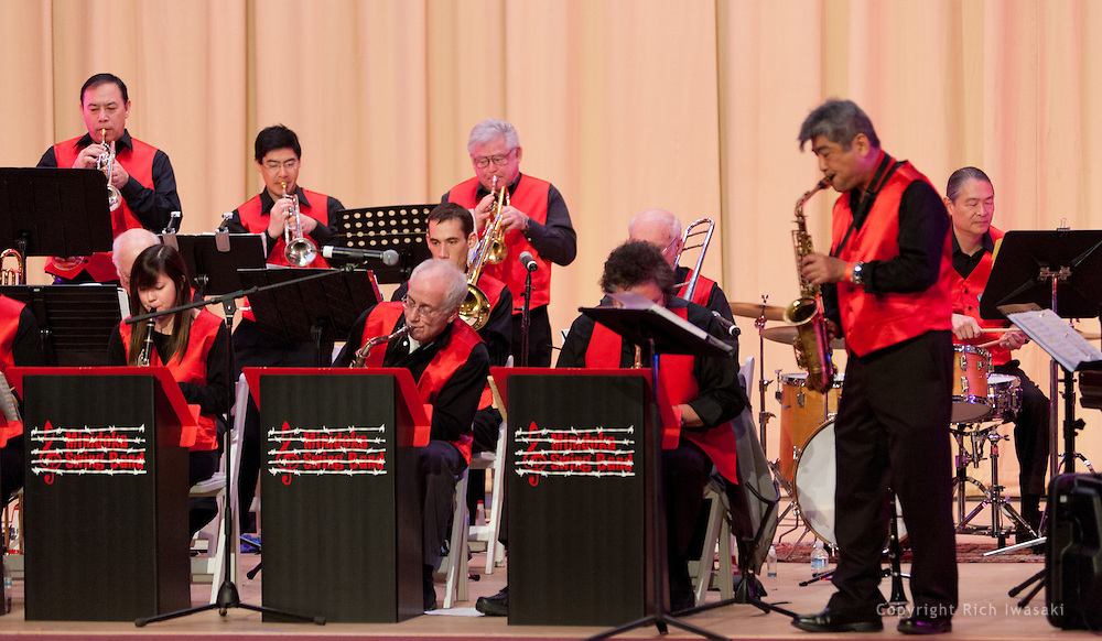 The Minidoka Swing Band performs at 2011 Mochitsuki, Auditorium, Scottsh Rite Center, Portland, Oregon