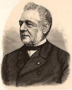 Christoph Hendrick Diderick Buys-Ballot (1817-1890) Dutch meteorologist and physical chemist. Engraving from 'Der Stein der Weisen' (Leipzig c1895).