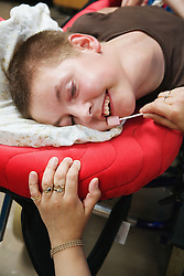 Mouth hygiene for disabled young person's care,