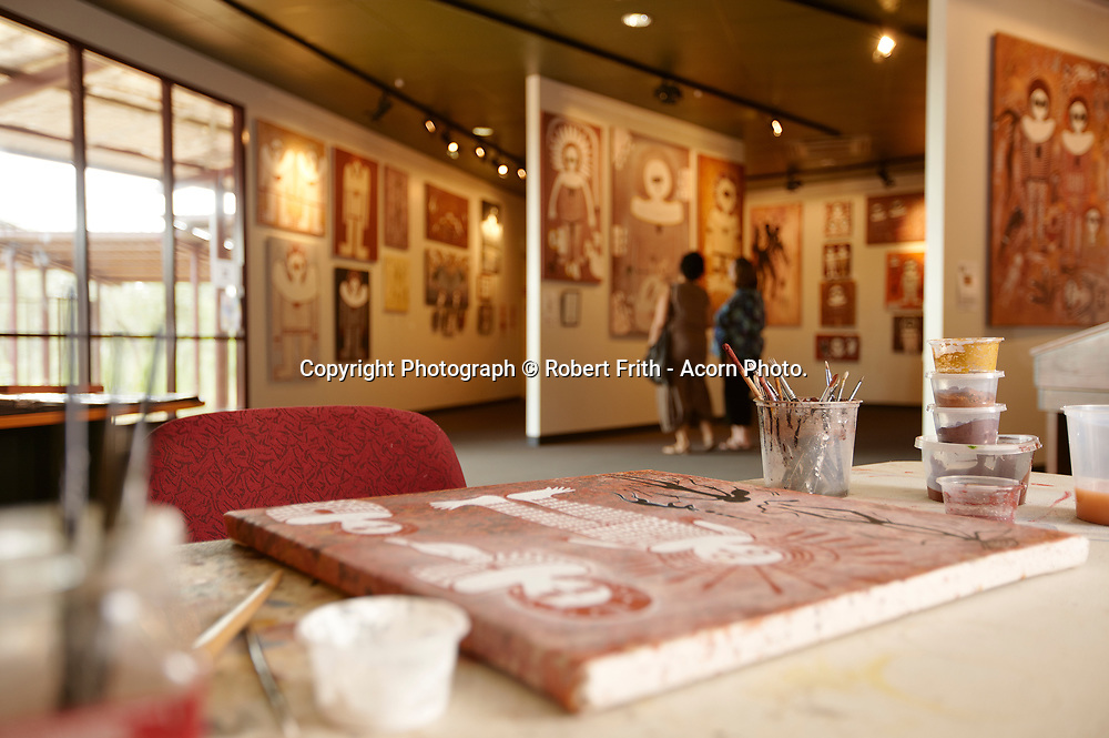 Donny Woolagoodja at Mowanjum Arts