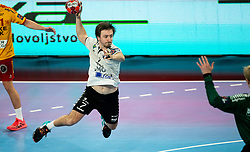 David Didovic of Trebnje in action during handball match between RK Trimo Trebnje and GOG Gudme in 9th Round of EHF Europe League 2020/21, on February 24, 2021 in Arena Stozice, Ljubljana, Slovenia. Photo by Vid Ponikvar / Sportida