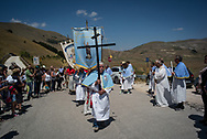 About ten month after the event villagers have been able to organize a mass and a religius procession to celebrate the patron saint, Saint Vincenzo