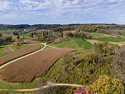 Photogrpah of Frank Lloyd Wright's Taliesin Farm, where architecture students grew their own food while studying. Iowa County, near Spring Green, Wisconsin, USA.