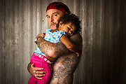 Gregory Wallis with his foster child Chloe, Kemp, TX, April 2012. ( Billy Smith II / Houston Chronicle) <br /> <br /> <br /> DO NOT PUBLISH WEB OR PRINT WITHOUT TALKING TO BILLY SMITH (713-806-3306)
