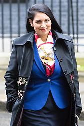 Downing Street, London, November 15th 2016.  International Development Secretary Priti Patel leaves Downing Street following the weekly cabinet meeting.