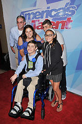 """Antonio from Make A Wish and Family at the NBC """"America's Got Talent"""" Season 12 Live Show held at the Dolby Theater in Hollywood, CA on Tuesday, August 22, 2017. (Photo By Sthanlee B. Mirador/Sipa USA)"""