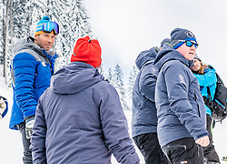 11.01.2019, Hahnenkamm, Kitzbühel, AUT, FIS Weltcup Ski Alpin, Schneekontrolle durch die FIS, im Bild v.l. Hannes Trinkl (FIS Renndirektor), Herbert Hauser (Pistenchef Streif), Stefan Lindner (Pistenchef Ganslern) // f.l. Hannes Trinkl FIS Racedirector Herbert Hauser slope Manager Streif and Stefan Lindner slope Manager Ganslern during snow control by the FIS at the Hahnenkamm in Kitzbühel, Austria on 2019/01/11. EXPA Pictures © 2019, PhotoCredit: EXPA/ Stefan Adelsberger