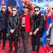 NLD/Amsterdam/20140422 - Premiere The Amazing Spiderman 2, B-Brave, Kaj van der Voort, Samuel Leijten, Cassius Verbond, Dioni Jurado-Gomez en Jai Wowor