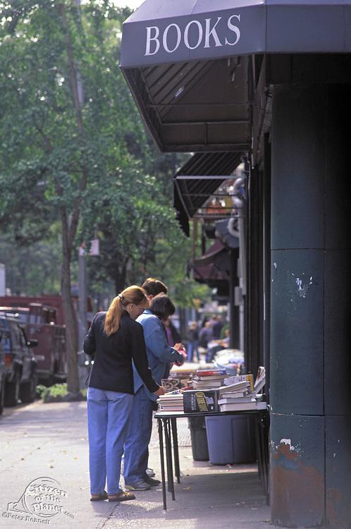 Biography Bookstore in the 1990's, Bleecker Street, Greenwich Village, Manhattan, New York