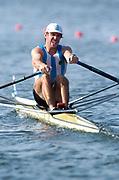 20040814 Olympic Games Athens Greece [Rowing]<br /> Photo  Peter Spurrier <br /> ARG M1X Santiago Fernadez<br /> email;  images@intersport-images.com<br /> Tel +44 7973 819 551<br /> T<br /> <br /> <br /> [Mandatory Credit Peter Spurrier/ Intersport Images]