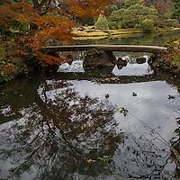 Rikugien Garden Bridge