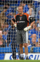 Photo: Ed Godden.<br />Chelsea v Charlton Athletic. The Barclays Premiership. 09/09/2006. Charlton's substitute goalkeeper Thomas Myhre. Pictured warming up before the game.